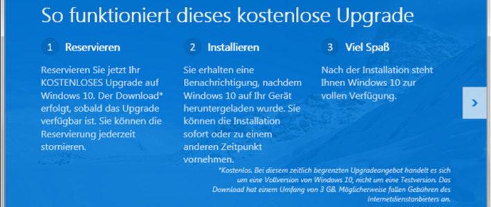 Kostenloses Windows 10 Upgrade – Was Sie wissen sollten